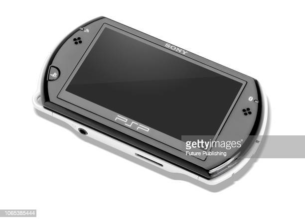 Sony PlayStation Portable Go handheld video game console also known as a PSP Go taken on July 13 2016