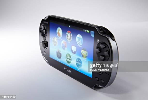 A Sony PS Vita handheld games console photographed during a studio shoot for PSM3 Magazine January 4 2012