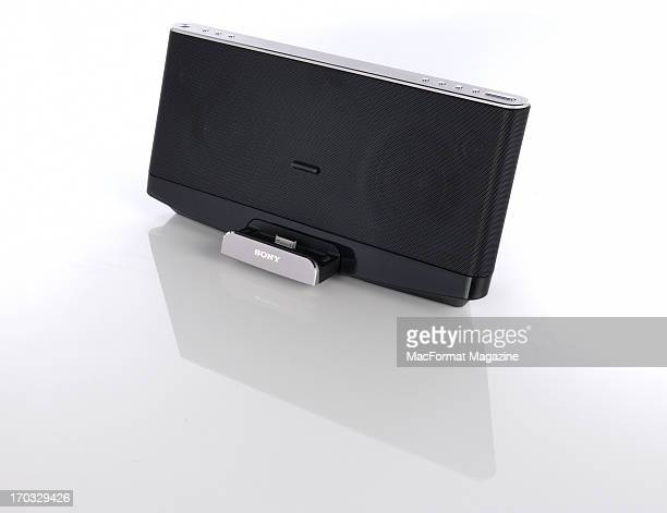 A Sony RDPx280iP Bluetooth speaker photographed during a studio shoot for MacFormat Magazine November 1 2012