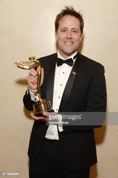 Sony SVP VR Jake Zim poses with the Lumiere Award at the Advanced Imaging Society 2018 Lumiere Awards presented by Dell and Cisco at Steven J Ross...