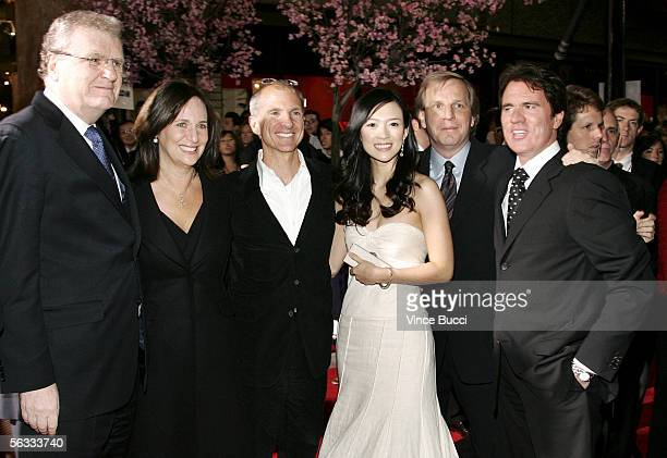 Sony USA Chairman Howard Stringer, producers Lucy Fisher and John DeLuca, actress Ziyi Zhang, producer Doug Wick and director Rob Marshall attend the...