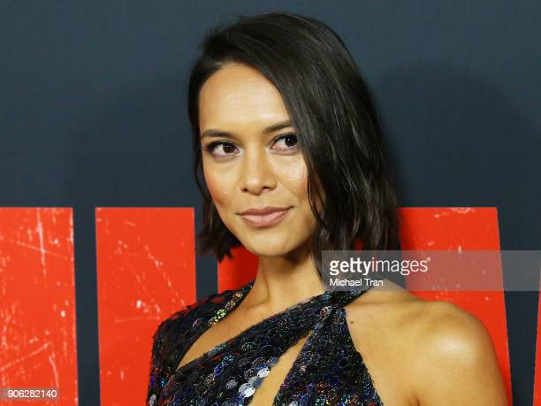 Sonya Balmores arrives to Los Angeles premiere of STX Films' 'Den Of Thieves' held at Regal LA Live Stadium 14 on January 17 2018 in Los Angeles...
