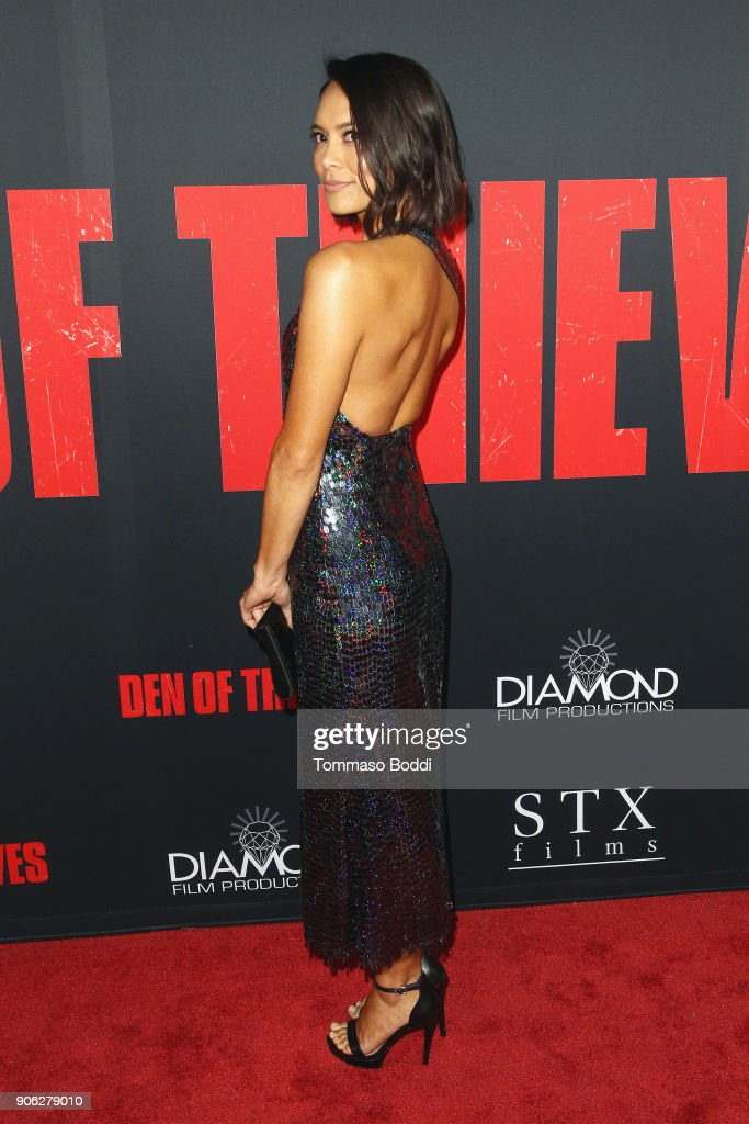 Sonya Balmores attends the Premiere Of STX Films' 'Den Of Thieves' at Regal LA Live Stadium 14 on January 17, 2018 in Los Angeles, California.