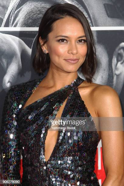 Sonya Balmores attends the Premiere Of STX Films' 'Den Of Thieves' at Regal LA Live Stadium 14 on January 17 2018 in Los Angeles California