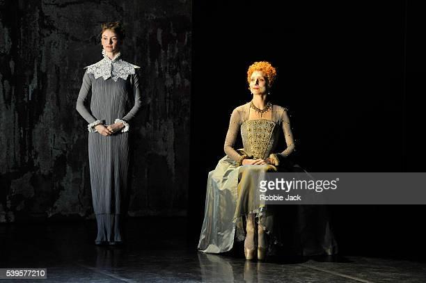 Sonya Cullingford and Zenaida Yanowsky in the Royal Ballet's production of Will Tuckett's Elizabeth at the Linbury Studio Theatre Royal Opera House...