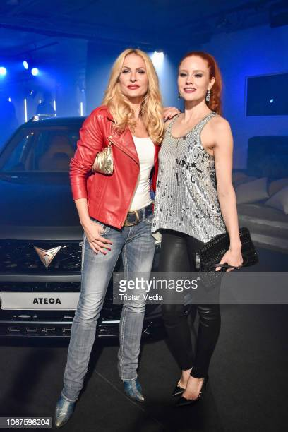 Sonya Kraus and Barbara Meier during the Cupra x Berlin Night by Seat event at U3-Tunnel on November 30, 2018 in Berlin, Germany.