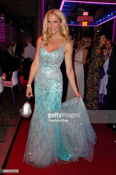 Sonya Kraus attends the Deutscher Fernsehpreis 2014 after show party on October 02, 2014 in Cologne, Germany.