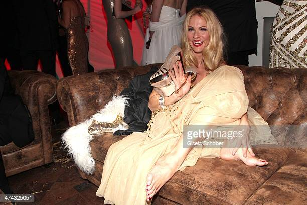 Sonya Kraus attends the Dresswestern party at Rilano No 6 on February 22 2014 in Munich Germany