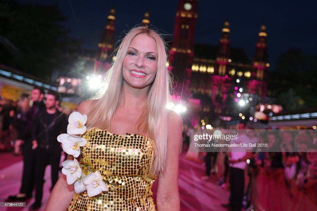 Sonya Kraus attends the Life Ball 2015 at City Hall on May 16, 2015 in Vienna, Austria.