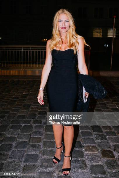 Sonya Kraus attends the Life Ball 2018 welcome cocktail at Le Meridien Hotel on June 1 2018 in Vienna Austria The Life Ball an annual charity event...