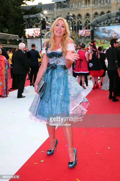Sonya Kraus during the Life Ball 2018 at City Hall on June 2 2018 in Vienna Austria The Life Ball an annual charity event raising funds for HIV AIDS...