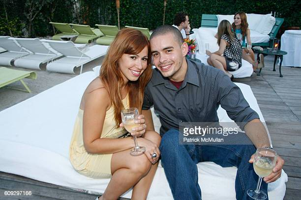 Sonya Rodriguez and Carlos Sanchez attend Launch of Diane von Furstenberg Soleil Swim and Beach Collection at The Delano on July 13 2007