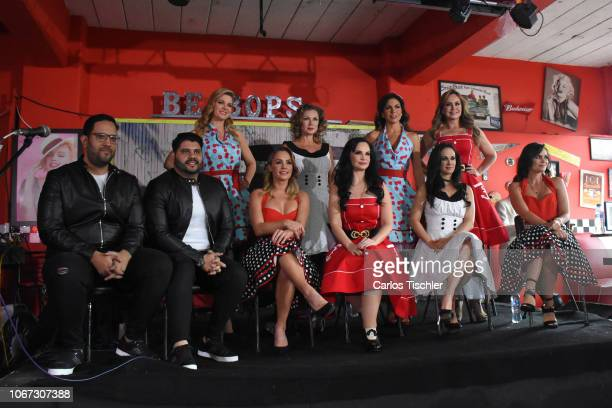 Sonya Smith Leticia Calderon Patricia Manterola Gabriela Spanic Jessica Coch Ana Patricia Rojo Ana La Salvia Laura Carmine poses for photos during a...