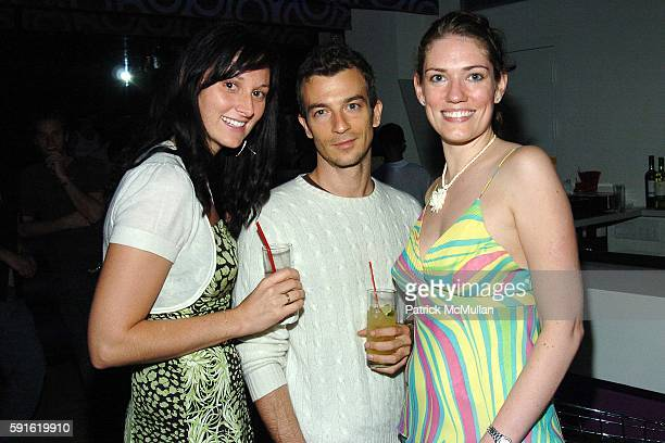 Sonya Tcherevkoff Alex Lasky and Kimberly attend Party to Celebrate the Opening of PIZZA BAR at Pizza Bar on June 9 2005 in New York City