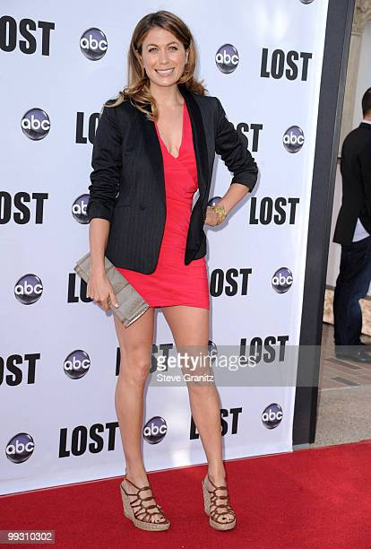 Sonya Walger attends the Lost Live Final Celebration at Royce Hall UCLA on May 13 2010 in Westwood California