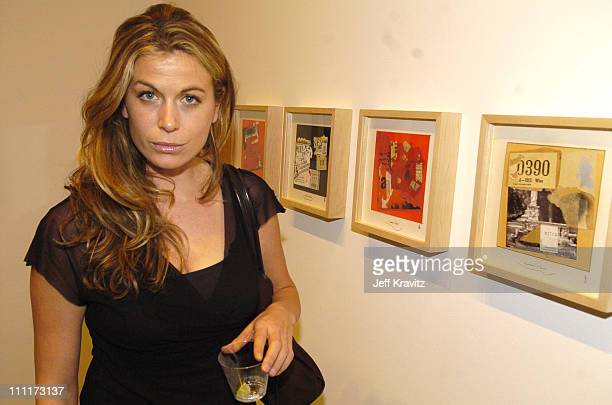 Sonya Walger during Opening Reception to Celebrate the New Richard Meier Collages Exhibit at Gagosian Gallery in Beverly Hills California United...