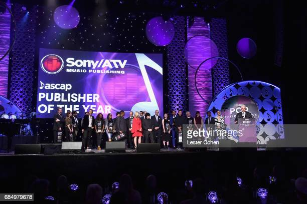 Sony/ATV accepts the 'Publisher of the Year' award onstage at the 2017 ASCAP Pop Awards at The Wiltern on May 18 2017 in Los Angeles California
