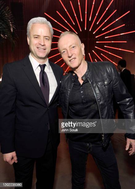 Sony/ATV Music Publishing President Global Chief Marketing Officer Brian J Monaco and Phil Collen of Def Leppard attend the Sony Music Entertainment...