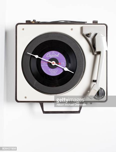 Sony/ATV Publishing Executive Brian Monaco's office is photographed for Billboard Magazine on December 10 2015 in New York City A turntable clock...