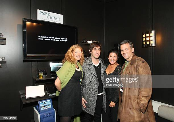 PHOENIX JANUARY 31 Sony's Amy Berman actor Brent Bolthouse Felicia Alexander and Michael Gennefo attend the Sony CIERGE / Tenjune new luxury cocktail...
