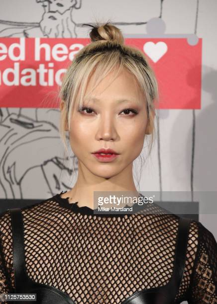 Soo Joo Park arrives at the Fabulous Fund Fair event during London Fashion Week February 2019 at the The Roundhouse on February 18 2019 in London...
