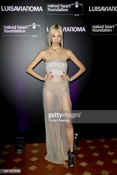 Soo Joo Park attends LuisaViaRoma and Naked Heart Foundation Dinner on January 09 2019 in Florence Italy