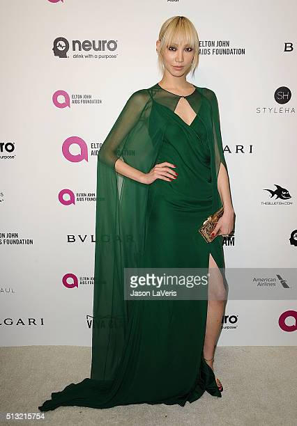 Soo Joo Park attends the 24th annual Elton John AIDS Foundation's Oscar viewing party on February 28 2016 in West Hollywood California