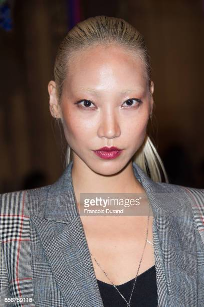 Soo Joo Park attends the Alexander McQueen show as part of the Paris Fashion Week Womenswear Spring/Summer 2018 on October 2 2017 in Paris France