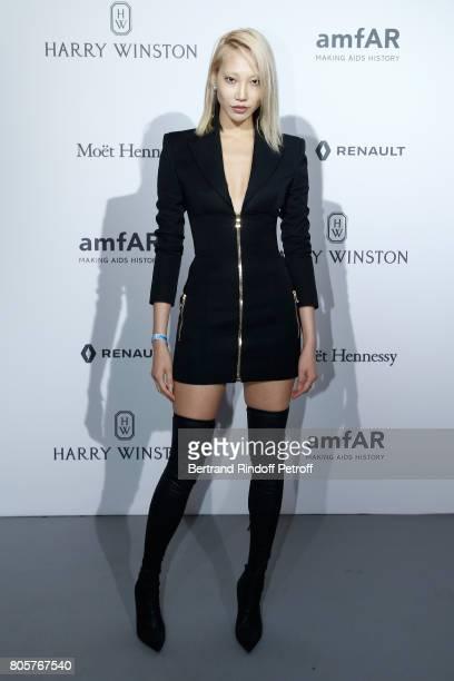 Soo Joo Park attends the amfAR Paris Dinner 2017 at Le Petit Palais on July 2 2017 in Paris France