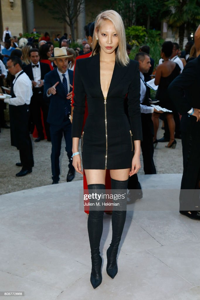 Soo Joo Park attends the amfAR Paris Dinner 2017 at Le Petit Palais on July 2, 2017 in Paris, France.