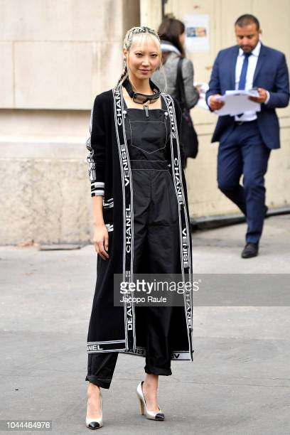 Soo Joo Park attends the Chanel show as part of the Paris Fashion Week Womenswear Spring/Summer 2019 on October 2 2018 in Paris France