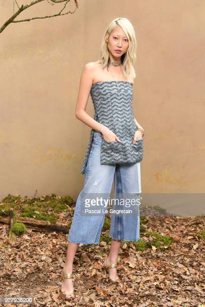 Soo Joo Park attends the Chanel show as part of the Paris Fashion Week Womenswear Fall/Winter 2018/2019 at Le Grand Palais on March 6 2018 in Paris...