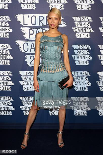 Soo Joo Park attends the L'Oreal Paris Blue Obsession Party at the annual 69th Cannes Film Festival at Hotel Martinez on May 18 2016 in Cannes France