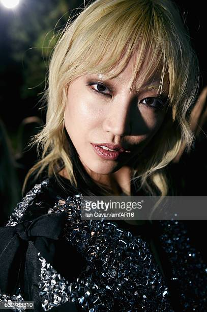 Soo Joo Park prepares backstage at the amfAR's 23rd Cinema Against AIDS Gala at Hotel du CapEdenRoc on May 19 2016 in Cap d'Antibes France