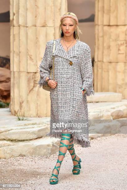 Soo Joo Park walks the runway during Chanel Cruise 2017/2018 Collection at Grand Palais on May 3 2017 in Paris France