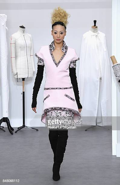 Soo Joo Park walks the runway during the Chanel Haute Couture Fall/Winter 20162017 show as part of Paris Fashion Week on July 5 2016 in Paris France