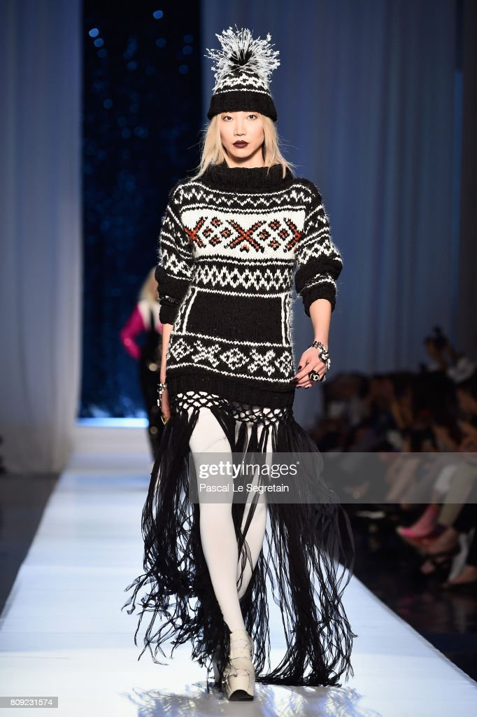 Soo Joo Park walks the runway during the Jean Paul Gaultier Haute Couture Fall/Winter 2017-2018 show as part of Haute Couture Paris Fashion Week on July 5, 2017 in Paris, France.