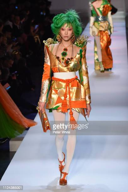 Soo Joo Park walks the runway during the JeanPaul Gaultier Spring Summer 2019 show as part of Paris Fashion Week on January 23 2019 in Paris France