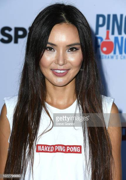 Soo Yeon Lee arrives at the 6th Annual PingPong4Purpose at Dodger Stadium on August 23 2018 in Los Angeles California