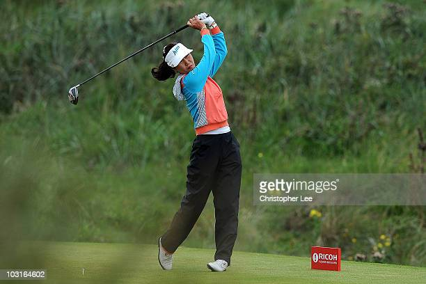 Soo Yun Kang of South Korea tees off on the 3rd hole during the second round of the 2010 Ricoh Women's British Open at Royal Birkdale on July 30 2010...