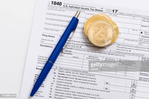 soon the deadline for filing a tax return! - 1040 tax form stock photos and pictures