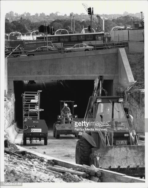 Soon to open the tunnel beneath William Street East Sydney pictured today The tunnel will take southbound traffic in Palmer Street under William...