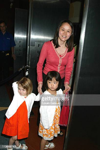 Soon Yi Previn Allen Manzie Bechet during Sinbad Legend of the Seven Seas NY Premiere at The Beekman Theater in New York New York United States