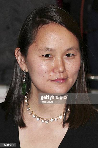 """Soon Yi Previn during """"Match Point"""" London Premiere - Arrivals at Curzon Cinema Mayfair in London, Great Britain."""