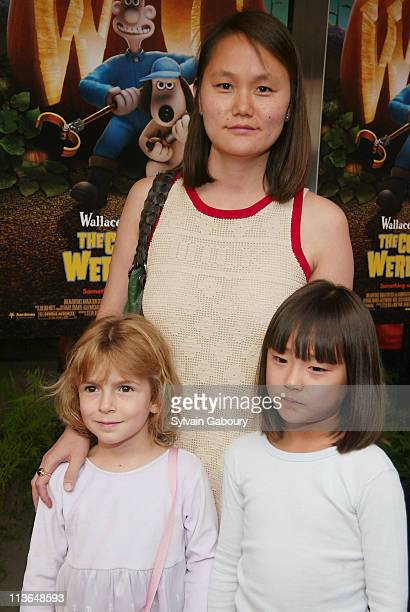 Soon Yi Previn Manzie Allen Bechet Allen during Dreamworks premiere of Wallace Gromit The Curse of the WereRabbit at Chelsea West Theater in New York...