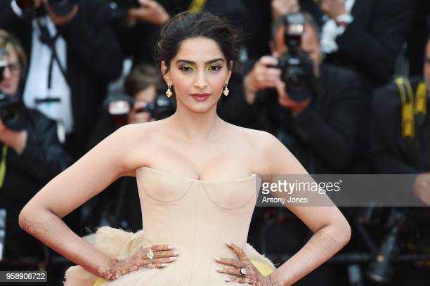 Soonam Kapoor attends the screening of 'Solo A Star Wars Story' during the 71st annual Cannes Film Festival at Palais des Festivals on May 15 2018 in...