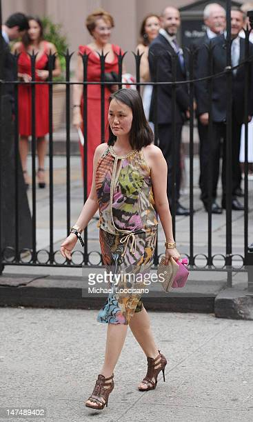 SoonYi attends Alec Baldwin and Hilaria Thomas' wedding ceremony at St Patrick's Old Cathedral on June 30 2012 in New York City
