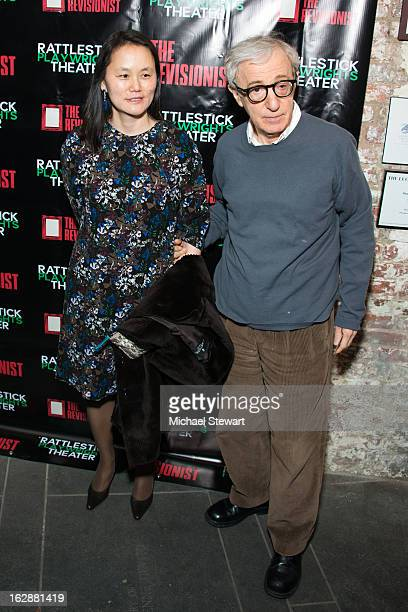 """Soon-Yi Previn and director Woody Allen attend """"The Revisionist"""" Opening Night at Cherry Lane Theatre on February 28, 2013 in New York City."""