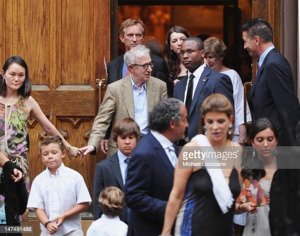 SoonYi Previn and her husband Actor/filmmaker Woody Allen Robert Kennedy Jr and daughter Kyra LeMoyne Kennedy and actor Billy Baldwin attend Alec...