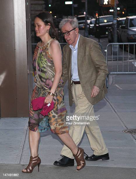 SoonYi Previn and Woody Allen attend Alec Baldwin and Hilaria Thomas' wedding reception held atop New York University's Kimmel Center on June 30 2012...